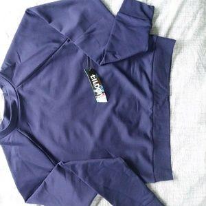 Tildon blue cropped long sleeve sweater S